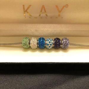 Cubic zirconia charms - Kay Jewelers